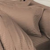 1000 TC King Size Taupe Striped Egyptian Cotton Bed Sheet Set