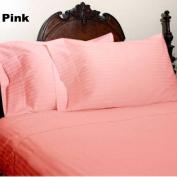 1000 TC King Size Pink Striped Egyptian Cotton Bed Sheet Set