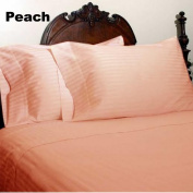 1000 Thread Count King Size Peach Striped Egyptian Cotton Bed Sheet Set