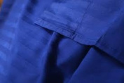 1000 Thread Count King Size Egyptian Blue Striped Egyptian Cotton Bed Sheet Set