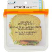 Blue Avocado Lunch Bag - Re-Zip Seal - Orange - 2 Pack