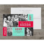 Cherish The Season Deluxe Holiday Card
