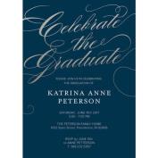 Classic Script Graduation Invitation