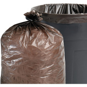 Stout by Envision 100% Recycled Plastic Garbage Bags, 26.5-37.9l 1mil, 24 x 24, Brown/Black, 250/CT