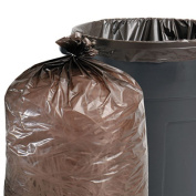Stout by Envision 100% Recycled Plastic Garbage Bags, 227.1l 1.5mil, 36 x 58, Brown/Black, 100/CT