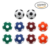 Dargon Eight Table Soccer Foosballs Replacement Balls Mini Multicolor 36mm Official Foosball 10 Pack