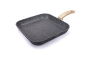 Alluflon Etnea Wood Edition Grill, Aluminium, black, 28/28 cm