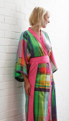 Blanc des Vosges Panama Cotton Kimono S/M Multicoloured 25 x 123 cm