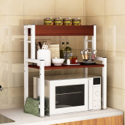 WENZHE Kitchen Storage Rack Spice Cooker Shelf Microwave Oven Oven Multifunction Woody 3 Layers, 20 Colours, 69 * 60 * 30cm
