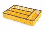 Villa d 'Este Home Tivoli 2417425 Cutlery Holder Low, Paper, Yellow