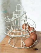 Kitchen Storage Spiral Helter Skelter Egg Holder Stand Rack Holds Up To 18 Eggs Cream