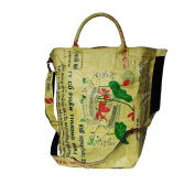 Environmentally Friendly Stylish Laundry Bag in Yellow Made From Recycled Rice Sack Tropic Material for All People The Sustainability Life