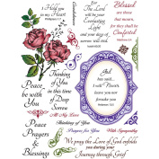 JustRite Stampers 15cm x 20cm Clear Stamp Set, With Sympathy 23pc