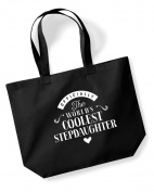 Stepdaughter Birthday Gift or Christmas Gift Bag, Tote, Shopping Bag, Birthday Gift, Present, Gifts For Women, Worlds Coolest Stepdaughter