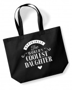 DAUGHTER Birthday Gift or Christmas Gift Bag, Tote, Shopping Bag, Birthday Gift, Present, Gifts For Women, Worlds Coolest DAUGHTER