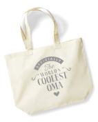 Oma Birthday Gift or Christmas Gift Bag, Tote, Shopping Bag, Birthday Gift, Present, Gifts For Women, Worlds Coolest Oma