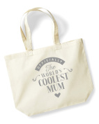 Mum Birthday Gift or Christmas Gift Bag, Tote, Shopping Bag, Birthday Gift, Present, Gifts For Women, Worlds Coolest Mum