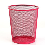CWAIXX Household King size bedroom round trash basket in the kitchen bathroom living room tube cover iron small waste basket , Red Trumpet