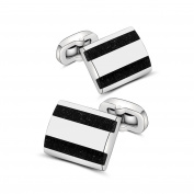Mr.Van Handcrafted Carbon Fibre Cufflinks Rhodium Plated Cuff Links Set Wedding Business Men's Jewellery Christmas Gifts