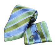 YAC1A02 Multiple Colours Striped Silk Necktie Perfection Presents 3PT By Y & G