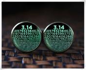 Numbers of Pi cufflinks, Symbol for Pi, Math Teacher Gifts, Science cufflinks