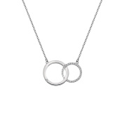 Hot Diamonds Bliss Interlocking Circle Necklace of Length 45cm