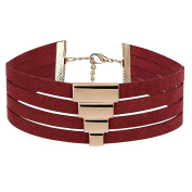 KnSam Women Alloy Choker Necklaces Collar 4 Layers [Novelty Necklace]