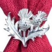 Fine Pewter Scottish Thistle Scarf Ring, Handcast By William Sturt