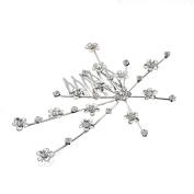 MultiWare Bridal Bridesmaid Wedding Plum Flower Crystal Hair Comb Clip