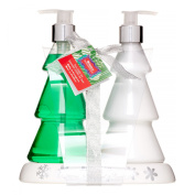 Brompton & Langely Tree Body Wash & Lotion Caddy Set, Holly & Evergreen