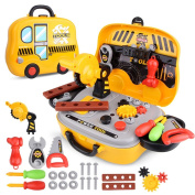 Tool Sets for Children with Carrycase Workbench Accessories Role Play Toy Gift for Boys