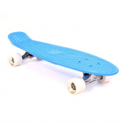 "3Style® Skateboards - 27"" Cruiser Skateboard - Plastic Retro Complete Board - The Perfect Retro Cruiser - 27"" X 7.5"" Deck | 58 x 42 mm 78A PU wheels | ABEC-7 bearings …"