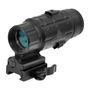 UTG 3X Magnifier with Flip-to-side QD Mount, W/E Adjustable