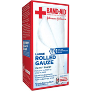 BAND-AID® Brand of First Aid Products Rolled Gauze, 10cm by 2.5 Yards