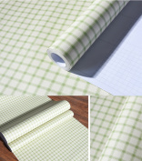 Self Adhesive Green Gingham Vinyl Contact Paper Decorative Drawer Shelf Liner for Cabinets Drawer Shelves Dresser