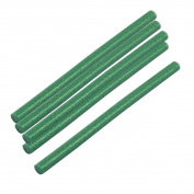 sourcingmap 5pcs 200mm x 11mm Green Hot Melt Glue Sticks Adhesive for Hot Melt Glue Gun