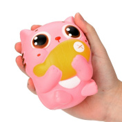 Decompression Toys, Keepwin Soft Cute Cat Slow Rising Squishy Toys Stress Relief Toys Cellphone Straps for Kids Adults