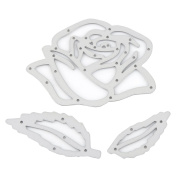 3Pcs Rose Metal Cutting Dies Stencil Embossing Template Moulds for DIY Scrapbooking Album Paper Card Making Craft Decor