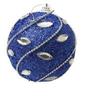 8CM Rhinestone Glitter Christmas Ball , Jaminy Christmas Bauble Ornaments DecorationsTree Hanging Ball
