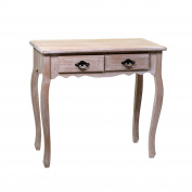 VACCHETTI Joseph 8035030000 Mobiletto Stuttgart Console Table, 2 Drawers, Wood, Lilac, 80 x 40 x 75 cm