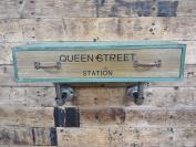 Floating Wooden Wall Drawer Shelf Industrial Vintage Style Storage Rustic