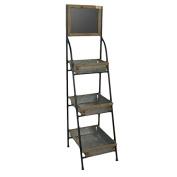 VACCHETTI Joseph 8034500000 Portofino Shelf with Blackboard, 3 Tier, Metal, White, 40.5 x 47 x 153 cm
