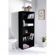 New Easy self assembly Lokken 5 Tier stylish storage Bookcase solution - Black