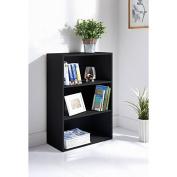 New Easy self assembly Lokken 3 Tier stylish storage Bookcase solution - Black