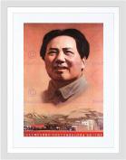 PROPAGANDA POLITICAL CHINA COMMUNISM MAO CHAIRMAN FRAMED ART PRINT B12X7658