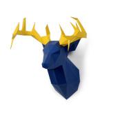 Timorn DIY Pre-cut Papercraft Assembly Kit 3D Wall Deer Head Trophy