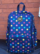 ★ BLUE MULTICOLOR BABY NAPPY CHANGING BACKPACK ★ FREE DRAWSTRING BAG ★ nappy RUCKSACK ★ UNISEX for MUM DAD, can be used for TWINS ★ BLUE YELLOW RED PINK ★ HOSPITAL BAG ★ 100% MONEY BACK GUARANTEE ★
