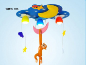 DELLT- Monkey Cartoon Lamp Baby Bedroom Children's Room Lamp LED Ceiling Lamps Baby Room Lamp (78 * 53 * 30cm)