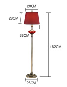 FUFU Floor Lamp European style Vertical Cloth shade floor lamp living room Simple modern bedroom Creative Bedside study floor lamp Bulb Included