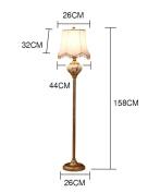 FUFU Floor Lamp Plexiglass Cloth shade European style floor lamp living room bedroom Creative bedside study floor lamp Bulb Included